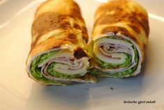Wraps eller omelett -igjen | Lavkarbo gjort enkelt Fresh Rolls, Food And Drink, Low Carb, Wraps, Snacks, Eat, Canning, Ethnic Recipes, Kitchens