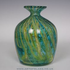 Mdina striped glass vase