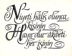 Calligraphy, italik yazı