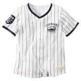 Crafted with soft cotton, pinstripes and jersey styling, this tee gives him major league style on and off the field.