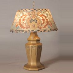 Arts & Crafts Reverse Painted Shade Table Lamp