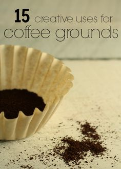 15 Creative Uses for Coffee Grounds - Coffee scrub? Coffee grounds to deodorize fridge or oniony hands? Coffee grounds when planting carrot seeds? Home Remedies, Natural Remedies, Herbal Remedies, Health Remedies, Uses For Coffee Grounds, Egg Shells, Natural Living, Simple Living, Sustainable Living