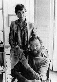 Carol Dunlop y Julio Cortázar