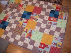 Grandson #2's monkey quilt