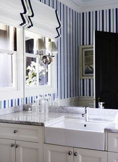 Bathrooms On Pinterest Powder Rooms Sconces And Wallpapers
