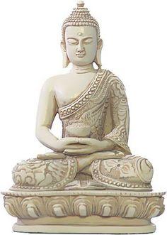 Nepali Buddha in Meditation Pose Statue, Stone | Sculpture & Statues | 7080 O-076S MuseumCo