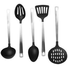 Cook's Corner 5 Piece Kitchen Utensil Set Color: Light Gray ** Check out the image by visiting the link. (This is an affiliate link) #ToolGadgetSets