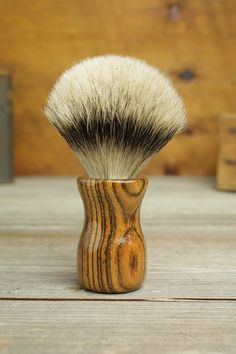 Bocote Truncheon style shaving brush with Silvertip Badger by Bare Knuckle Barbery