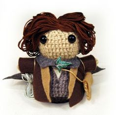 Geek Central Station: Free pattern! Hobbits (and Gimli)