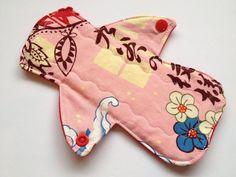 8  Reusable MODERATE Menstrual pad /Bamboo core by MamaKloth, $8.50