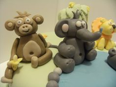 The monkey got the elephant's tail! Bear Cakes, Monkey, Elephant, Jumpsuit, Monkeys, Elephants, At Sign