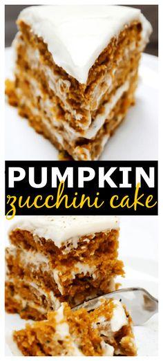 Best Dessert Recipes, Cupcake Recipes, Easy Desserts, Delicious Desserts, Cupcake Cakes, Yummy Food, Cupcakes, Amazing Recipes, Pumpkin Zucchini Cake