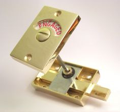 Restroom Privacy Lock Occupancy Indicator Latch Vacant Occupied Door Lock Privacy Indicator