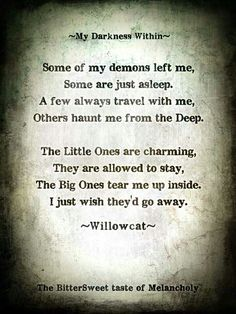 darkness within..