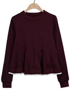 Flounce Fleece Sweatshirt OASAP.com