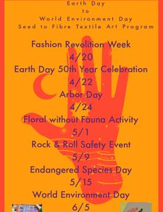 World Environment Day, Arbour Day, Art Programs, Art Challenge, Endangered Species, Textile Art, Rock And Roll, Challenges, Activities