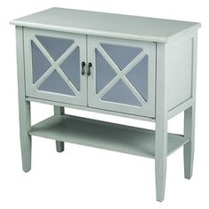 Shop for 2 Door Console Cabinet with Mirror Insert