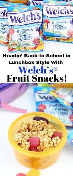 Check Out How To Head Back-to-School in Lunchbox Style With Welchs® Fruit Snacks Thanks to @sixtimemommy ! #Ad Delicious recipes featuring Welchs Fruit Snacks for Back-to-School lunches! #sponsored #welchsfruitsnacks