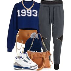 A fashion look from January 2014 featuring MSGM sweatshirts, H&M activewear pants and Steve Madden tote bags. Browse and shop related looks.