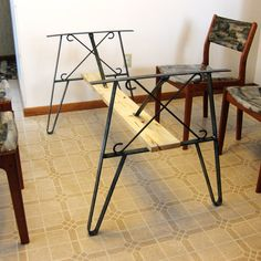 Metal table legs Taper set of 2 Legs Metals and Tables