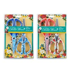The Pioneer Woman Floral 2 Piece All Purpose Shears Set Assorted Multicolor The Pioneer Woman, Pioneer Woman Dishes, Pioneer Woman Kitchen, Pioneer Woman Recipes, Pioneer Women, Kitchen Collection, Women Life, Pattern Making, Purpose