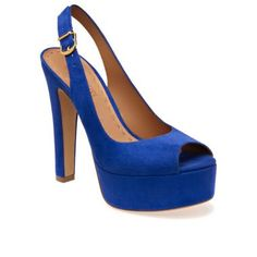 Cerulean slingbacks with wider heels...love them!