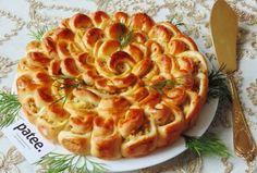 Дрожжевой  пирог с отварным мясом