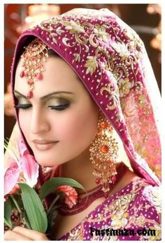 model nadia hussain with makeup and jewelry