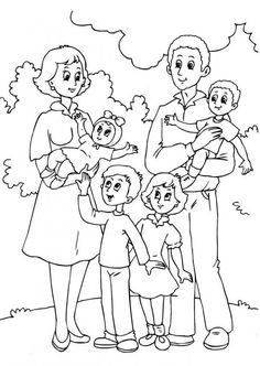 Preschool Family Coloring Pages With : Preschool Family Coloring Pages With Ideas Gallery : Free Coloring Pages for Kids