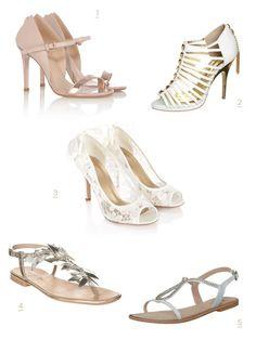 Besondere Brautschuhe - High Heels und Sandaletten