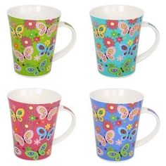 11oz New bone china mug Porcelain hot butterfly collection