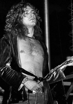 Robert Plant of Led Zeppelin performing live at Nassau Collesium, NY, February 14, 197.