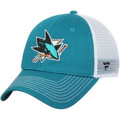 7056bd4ce1c San Jose Sharks Core Trucker Adjustable Snapback Hat - Teal