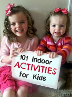 101 Indoor Activities for Kids from SixSistersStuff.com