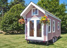 Charming pink poco tiny home