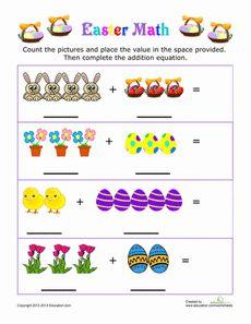 Easter Picture Addition | Worksheet | Education.com