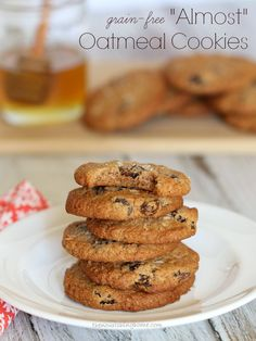"""""""Almost Oatmeal"""" Cookies (Grain-Free, Egg-Free, Dairy-Free Option)"""