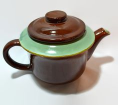 Red Wing Tea Pot  Provincial OOMPH   Aqua by ChicMouseVintage