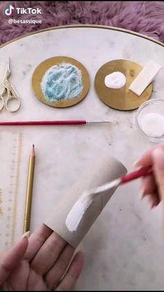 Diy Crafts Hacks, Diy Crafts For Gifts, Diy Home Crafts, Kids Crafts, Toilet Paper Roll Art, Rolled Paper Art, Cool Paper Crafts, Cute Crafts, Christmas Crafts To Make