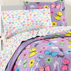 Sweet Butterfly 7-piece Bed in a Bag with Sheet Set | Overstock.com Shopping - The Best Deals on Kids' Bed in a Bags