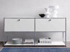 Modular shelf / low / contemporary / metal - USM Haller - USM Modular Furniture