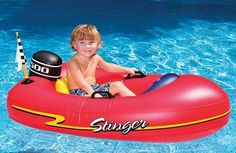 this is so cute! I love these fun floaties. inflatable boat kids boat for pools