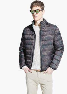 Anorak imbottito impermeabile mimetico Demi-season jacket