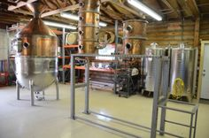 Early stages of Seattle Distilling Company's production floor.
