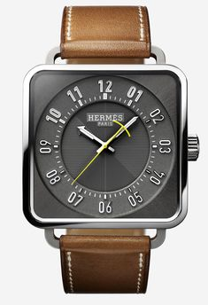 Hermes Carre H Proving it's not just a fashion watch the in house movement delivers a 50 hour power reserve. Amazing Watches, Beautiful Watches, Cool Watches, Watches For Men, Unique Watches, Popular Watches, Sport Watches, Hermes Apple Watch, Hermes Watch