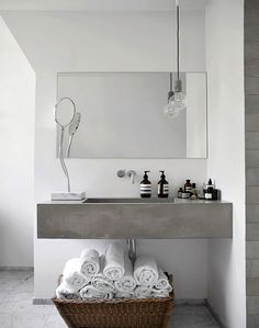 Bathroom Inspiration with Marble and Concrete
