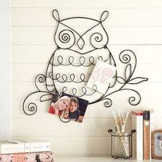 Decor Ideas / wire owl so cute!