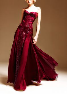 Versace Red Gown