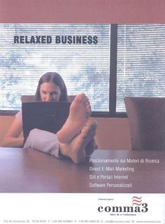 Pagina pubblicitaria su rivista Sinergia - Periodico di cultura d'impresa