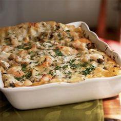 Seafood Lasagna  ( I used 1/2 lb. shrimp, 1/2 lb. crabmeat, 1/2 lb. scallops)  it was really good!